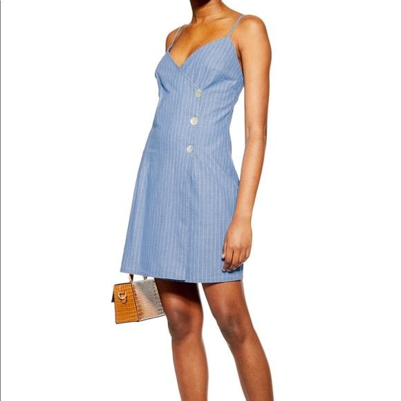 Topshop Dresses & Skirts - NWT Topshop Denim Wrap Dress